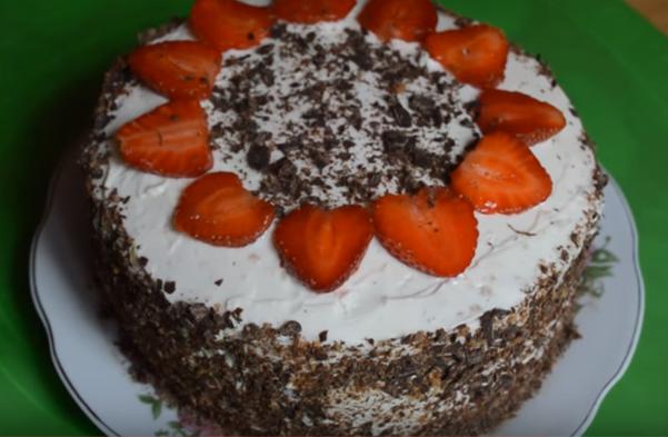 Клубничный торт - 4 рецепта как приготовить вкуснейший торт на бисквитном тесте