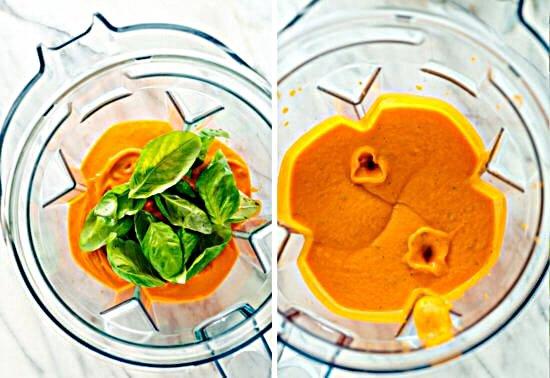 томатный крем суп с базиликом
