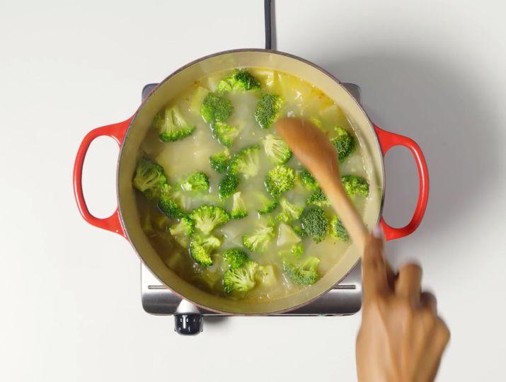 сырный суп пюре с брокколи