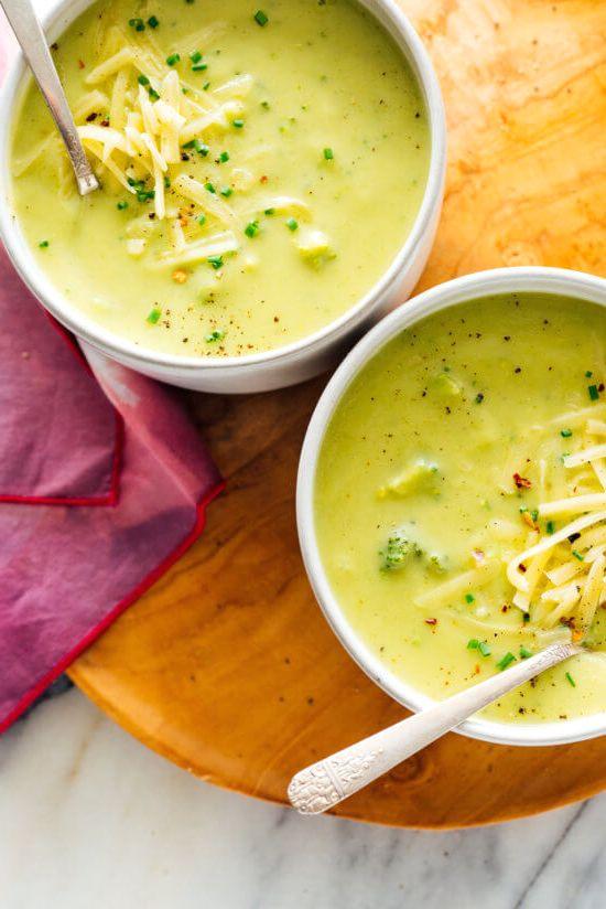 самый вкусный сырный суп с брокколи
