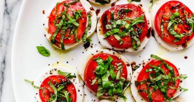 Салат капрезе классический рецепт с бальзамическим уксусом