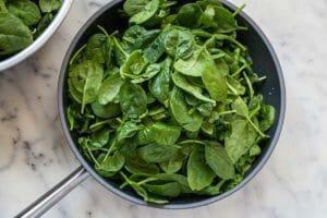 шпинат со сливками рецепты