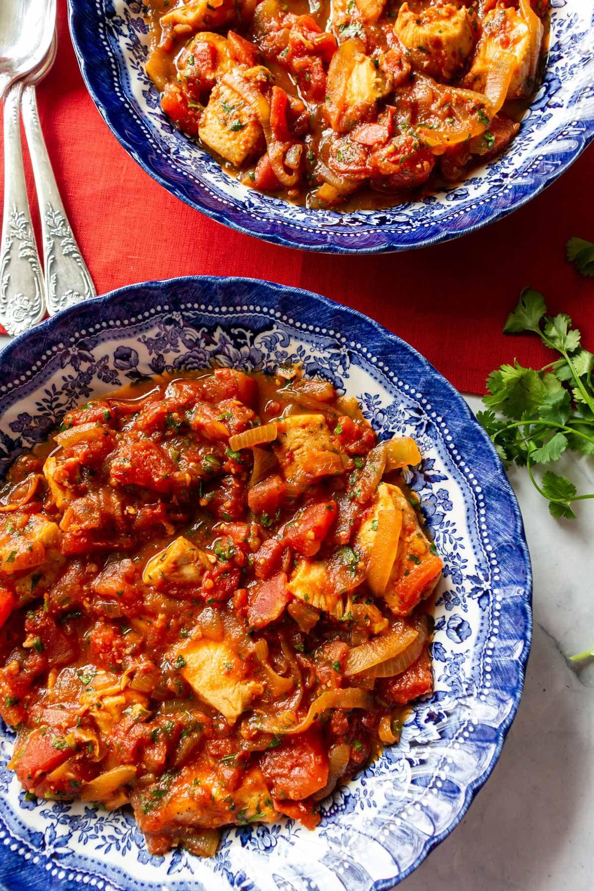чахохбили из курицы с томатной пастой рецепт