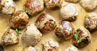 Фрикадельки в сливочном соусе на сковороде – шведский рецепт